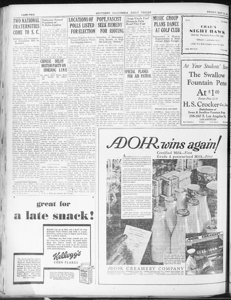 Daily Trojan, Vol. 22, No. 154, May 29, 1931