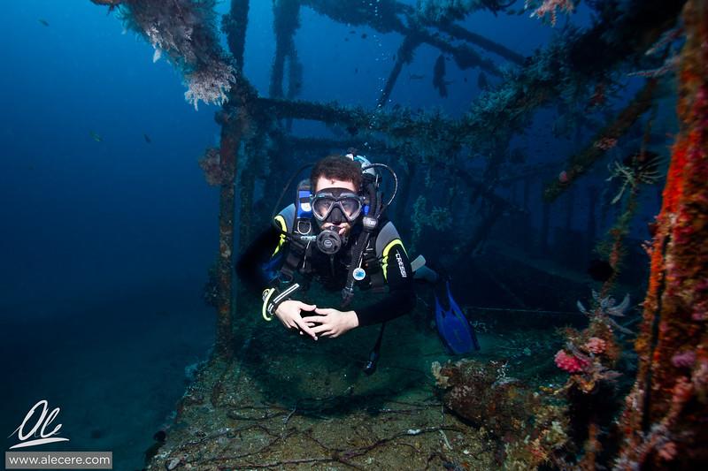 Diver in the Alma Jane