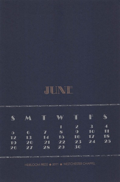 June, 2011, Heirloom Press