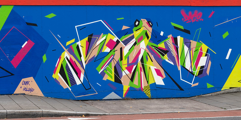 Abstract painting on wall, City of Cork, County Cork, Ireland