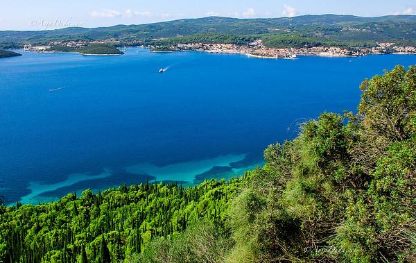 in Orebic mit Blick auf die Insel Korcula