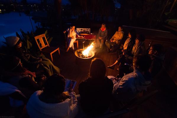 Yoga Bonfire and Bubbles 2015