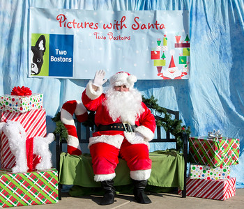 Two Bostons Santa Pet Photos for the Jaycees 2015