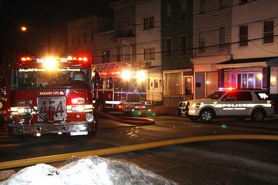 Fire Response, 411 W. Market St., Mahanoy City (1-24-2012)