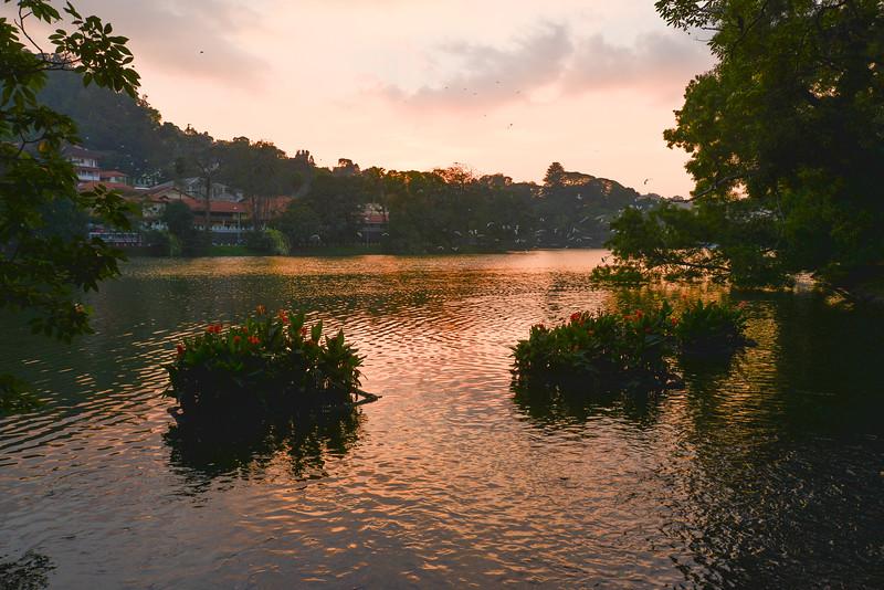 Coucher de soleil sur Kandy