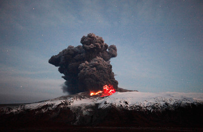 Iceland's Eyjafjallajokull Volcano - 2010