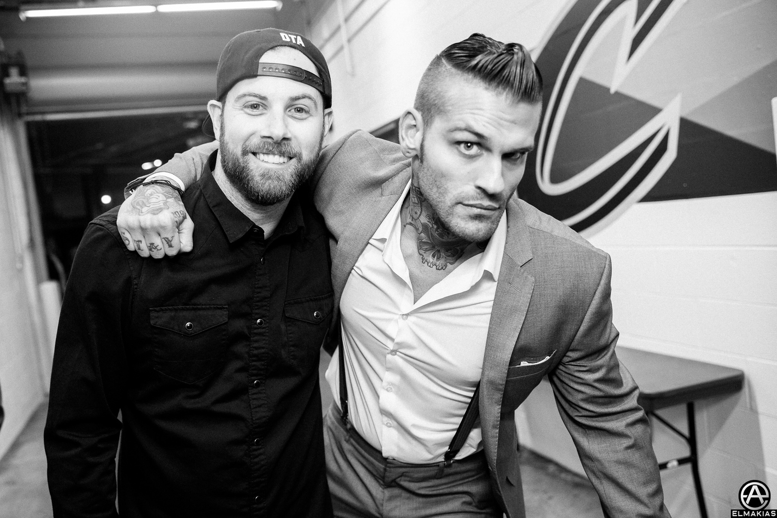 Kevin Skaff of A Day To Remember and Corey Graves at the APMAs 2015 by Adam Elmakias