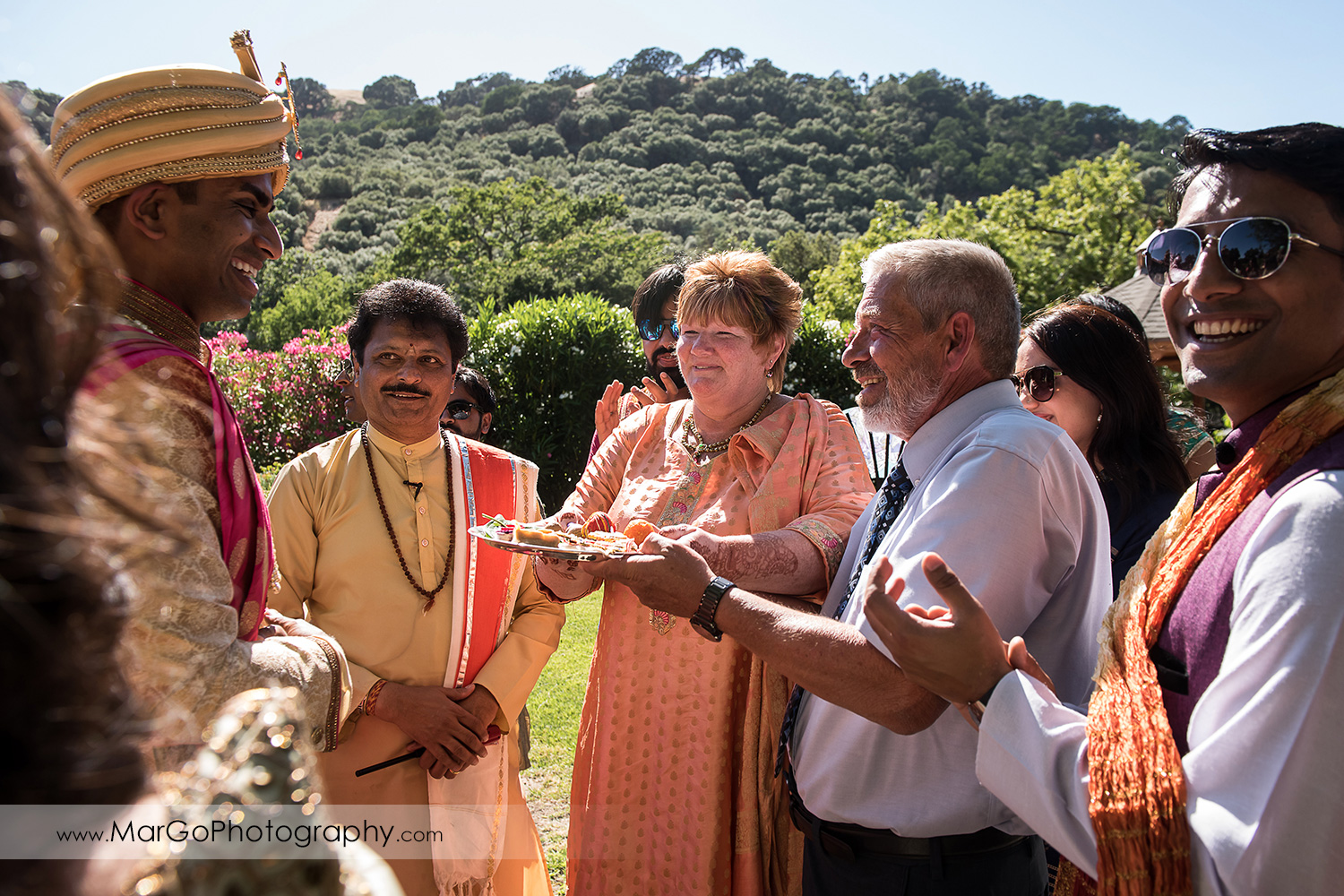 Dwar Puja during Indian wedding at Elliston Vineyards in Sunol