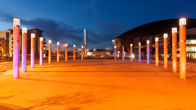 Roald Dahl Plass in Cardiff Bay