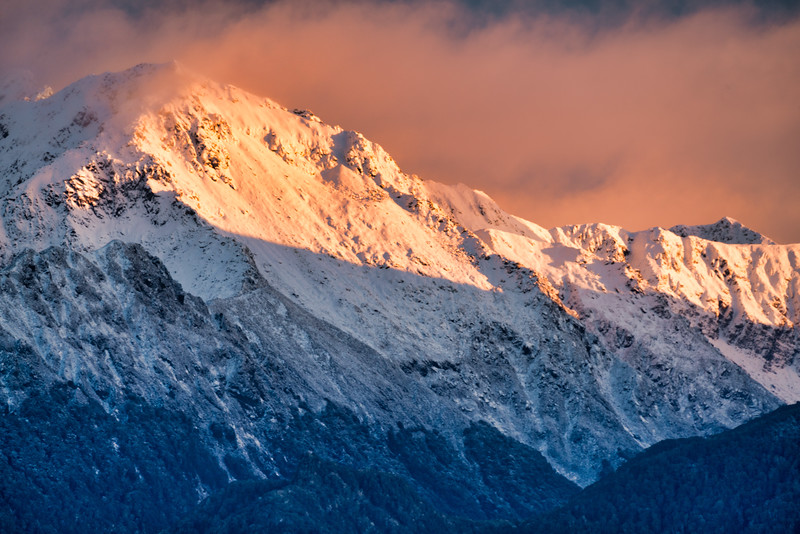 Mountain Peaks Above Lake Te Anau