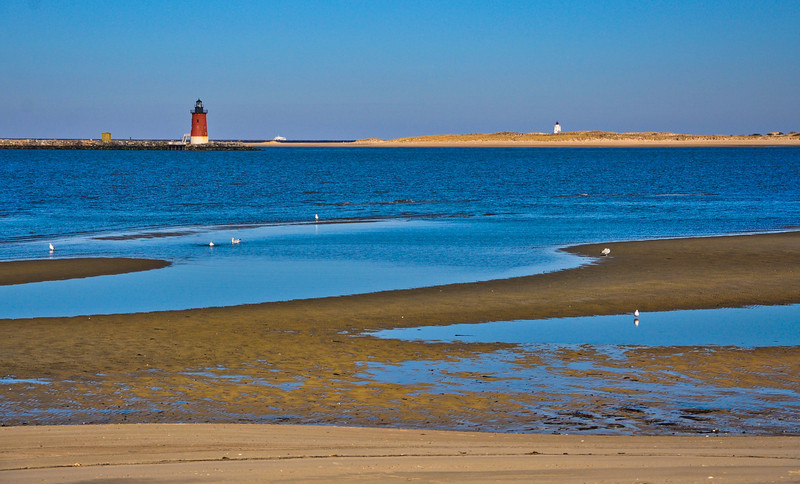 Beach and Lighthouse, Cape Henlopen State Park, Delaware