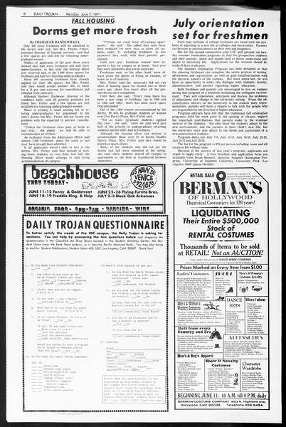 Daily Trojan, Vol. 62, No. 127, June 07, 1971