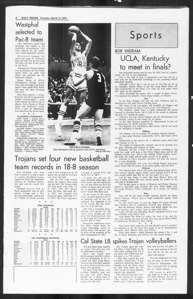 Daily Trojan, Vol. 61, No. 90, March 12, 1970