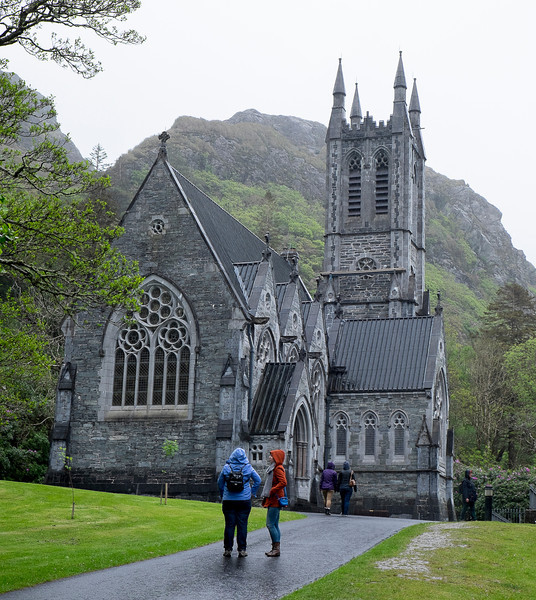 The chapel at Kylemore Abbey.