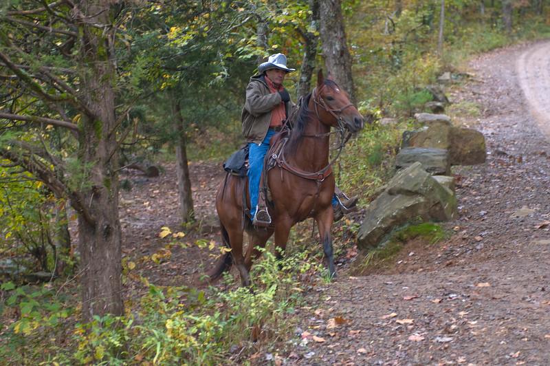 Trail rider at Falling Water