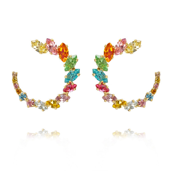 Angie Earrings / Rainbow Combo Gold