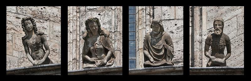 Mühlhausen, Marienkirche, Begleiterin, Kaiserin, Kaiser Karl IV., Begleiter