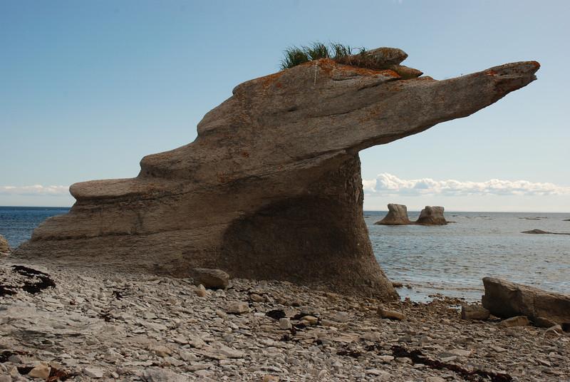 Monolithe - île Quarry, parc national de l'Archipel de Mingan