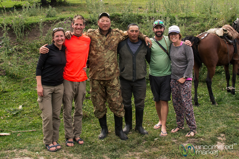 Our Trekking Group with the Horsemen - Jyrgalan Trek, Kyrgyzstan