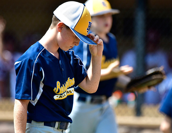 8/10/2019 Mike Orazzi | Staff Rhode Islands Barrington Little League's Owen Pfeffer (13) during a win Saturday over New Hampshires Goffstown Junior Baseball Little League at Breen Field in Bristol, Conn., during the New England Regional and advancing to the Little League World Series in Williamsport PA.