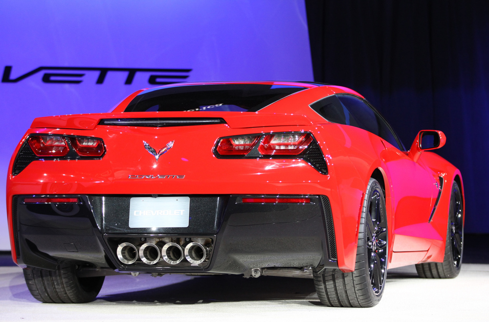 . The 2014 Corvette Stingray is introduced at the 2013 North American International Auto Show in Detroit, Michigan, January 14, 2013. AFP PHOTO/Geoff RobinsGeoff Robins/AFP/Getty Images