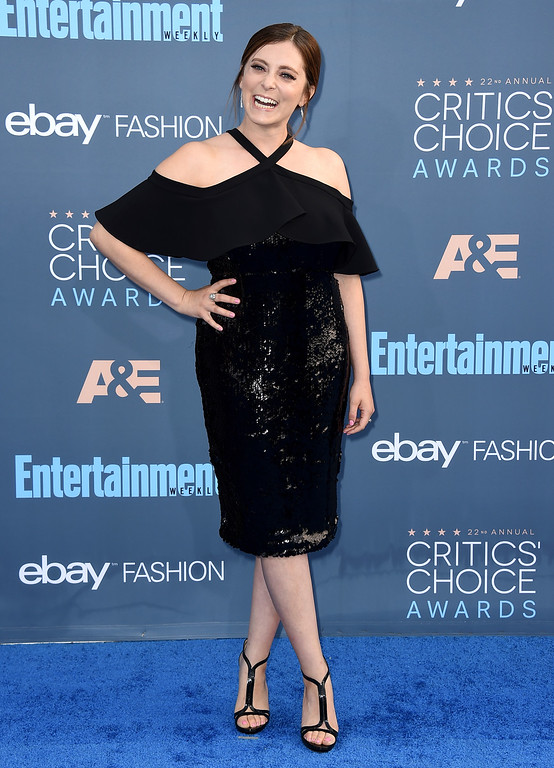 . Rachel Bloom arrives at the 22nd annual Critics\' Choice Awards at the Barker Hangar on Sunday, Dec. 11, 2016, in Santa Monica, Calif. (Photo by Jordan Strauss/Invision/AP)