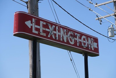 Lexington Neon Arrow Sign