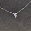 0.48ct 18kt White Gold Rose Cut Bezel Pendant 7