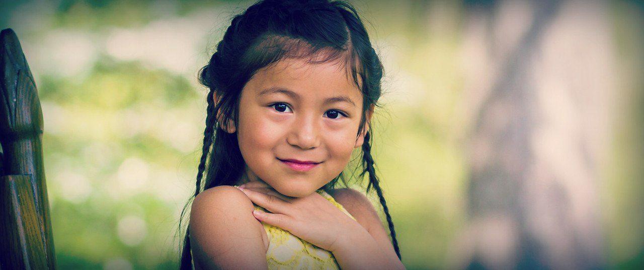 她的微笑无法形容