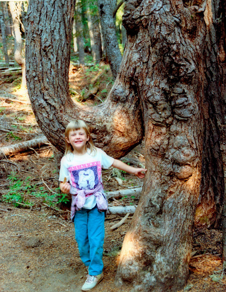 Kristen and Elephant Tree, 1991?