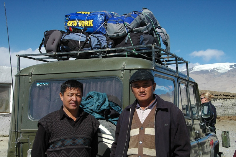 Drivers through Pamir Mountains, Tajikistan
