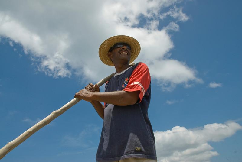 A boatman in the Yasawa Islands, Fiji