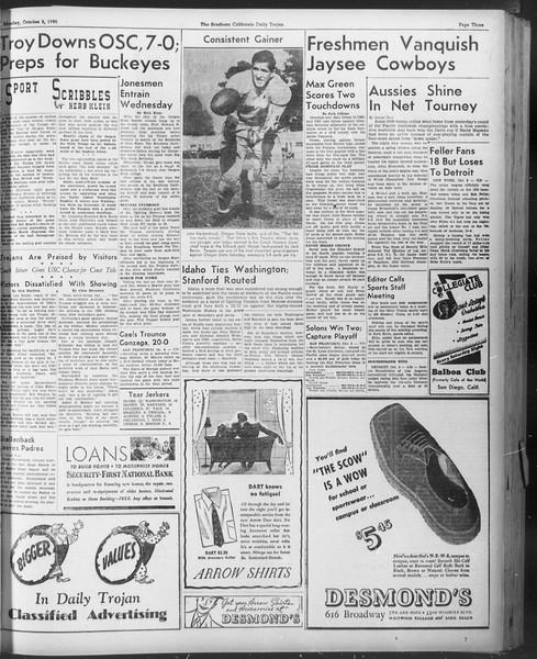 Daily Trojan, Vol. 30, No. 11, October 03, 1938