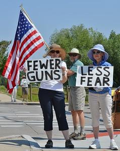Gun Violence Protest - Longmont, Co 7/4/15