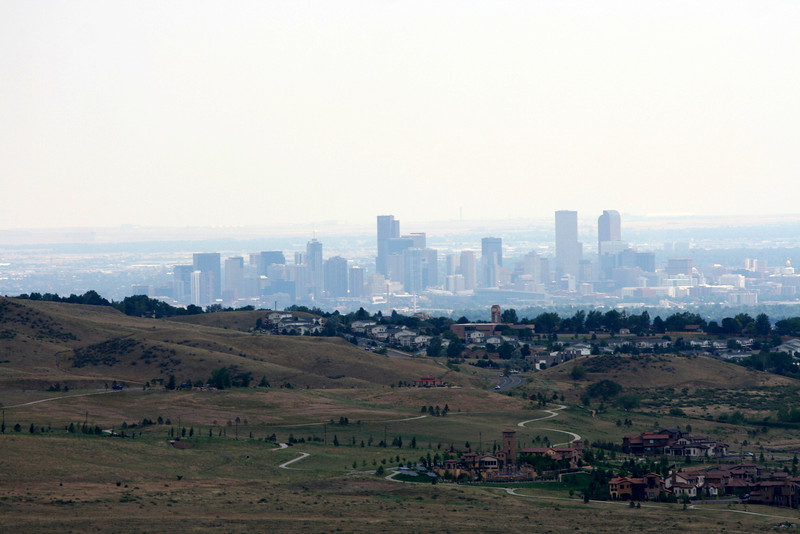 Denver thru the smokey haze. From Red Rocks.