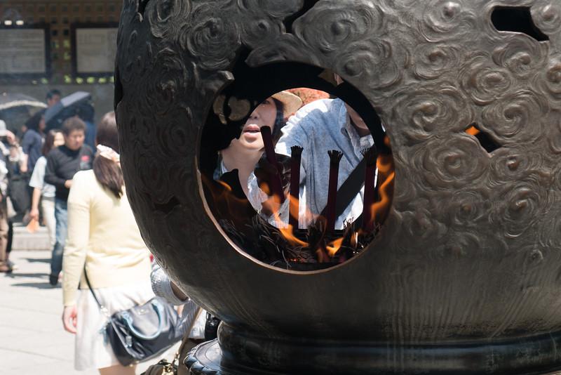 At Kōtoku-in temple in Kamakura, Japan