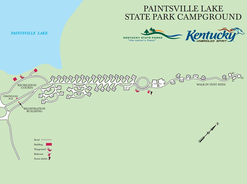 Paintsville Lake State Park (Campground Map)