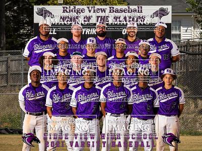 2021 Ridge View Baseball Team and Individuals
