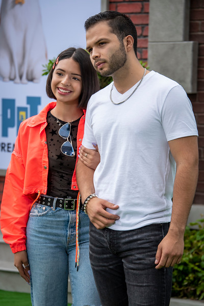 WESTWOOD, CALIFORNIA - JUNE 02: Angela Aguilar and Leonardo Aguilar attend the Premiere of Universal Pictures' 'The Secret Life Of Pets 2' at Regency Village Theatre on Sunday, June 02, 2019 in Westwood, California. (Photo by Tom Sorensen/Moovieboy Pictures)