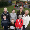 Nora Evans, Mary Grant, Sean McKevitt and Siobhan Evans from the St Oliver Plunkett Park Community Association pictured with kids, Ciara Sands, Nathen Morrisey and Derbhla O'Callaghan who are demanding a revamp of their recreation area which floods on a regular occaision. 07W9N22