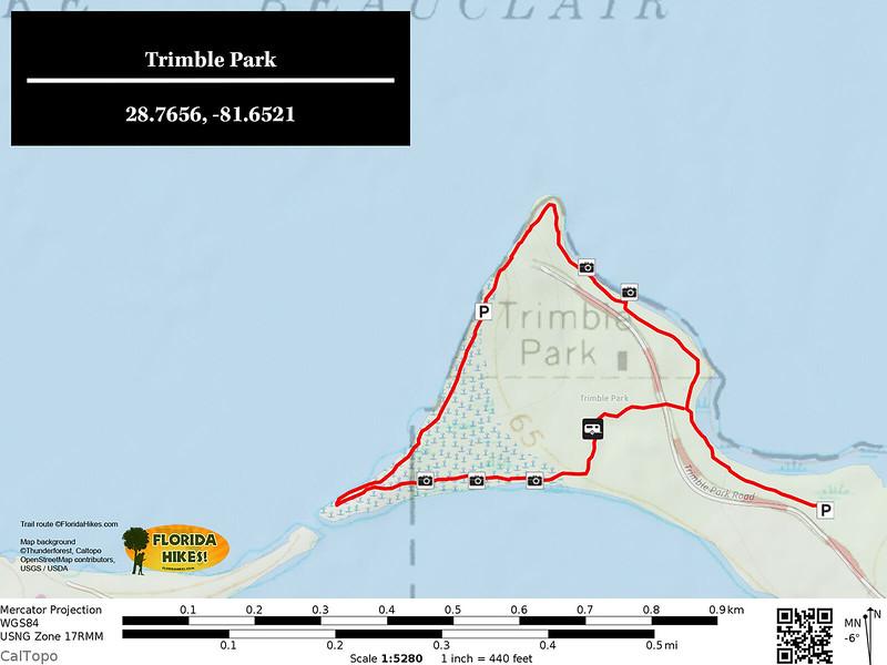Trimble Park Trail Map