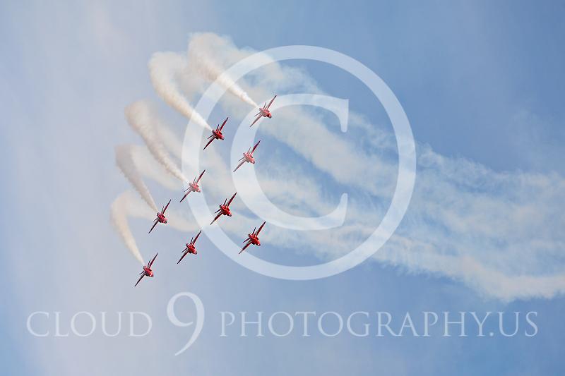 Red Arrows 00016 British RAF Red Arrows by Peter J Mancus.JPG