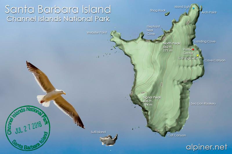 Santa Barbara Island map