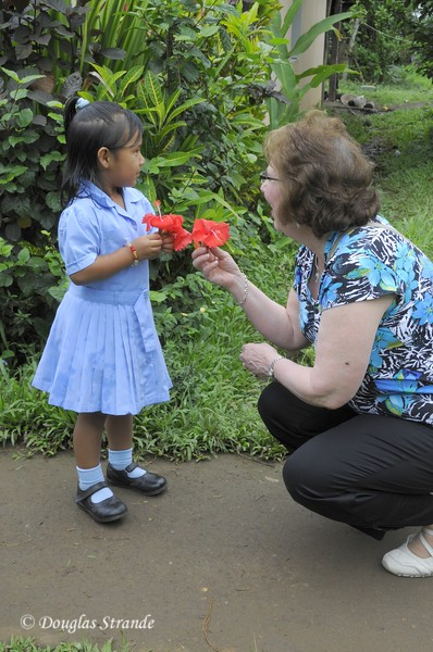 Maleku Village: Flowers for Louise