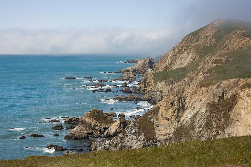 Pt. Reyes coastline from Chimney Rock