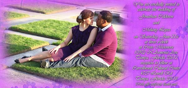 Melany and Jonathan invitations