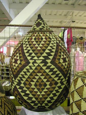 Zulu Tribal woven pattern baskets South Africa
