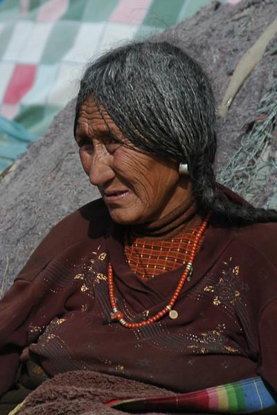 Tibetan Braided Woman - Xiahe, China