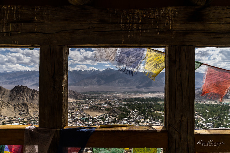 Leh city from Tsemo monastery