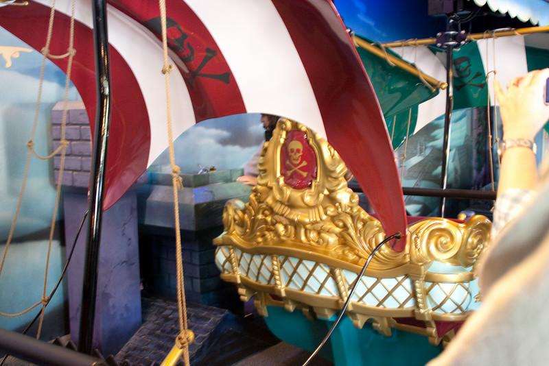 Peter Pan boats close-up.